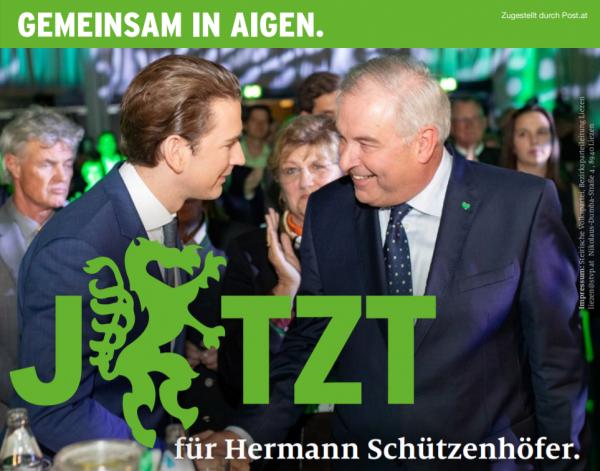 Sebastian Kurz und Hermann Schützenhöfer in Aigen/E
