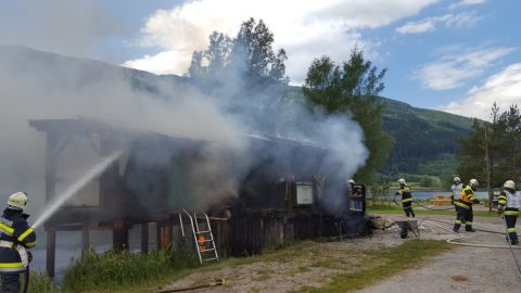 Brand des Seekiosk in Gaishorn am See
