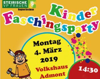 Kinder Faschingsparty in Admont